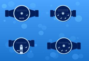 flowmeter, water meter, counter