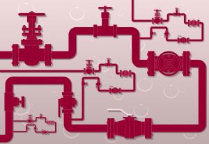 pipeline, gate valve, flowmeter